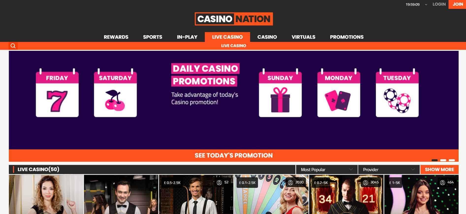 CasinoNation Live Casino