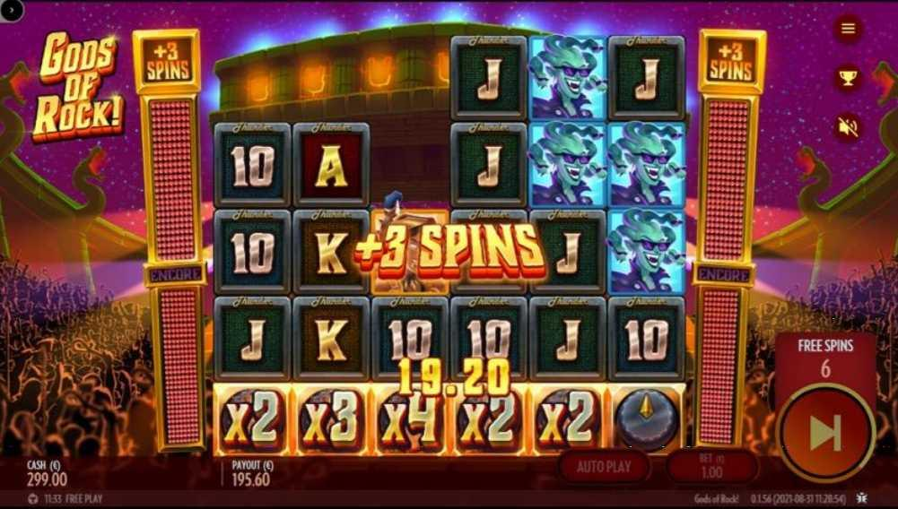 Gods of Rock Free Spins