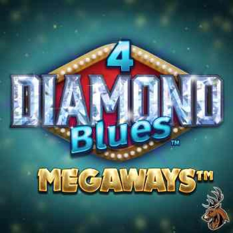 4 Diamond Blues Megaways Slot Logo