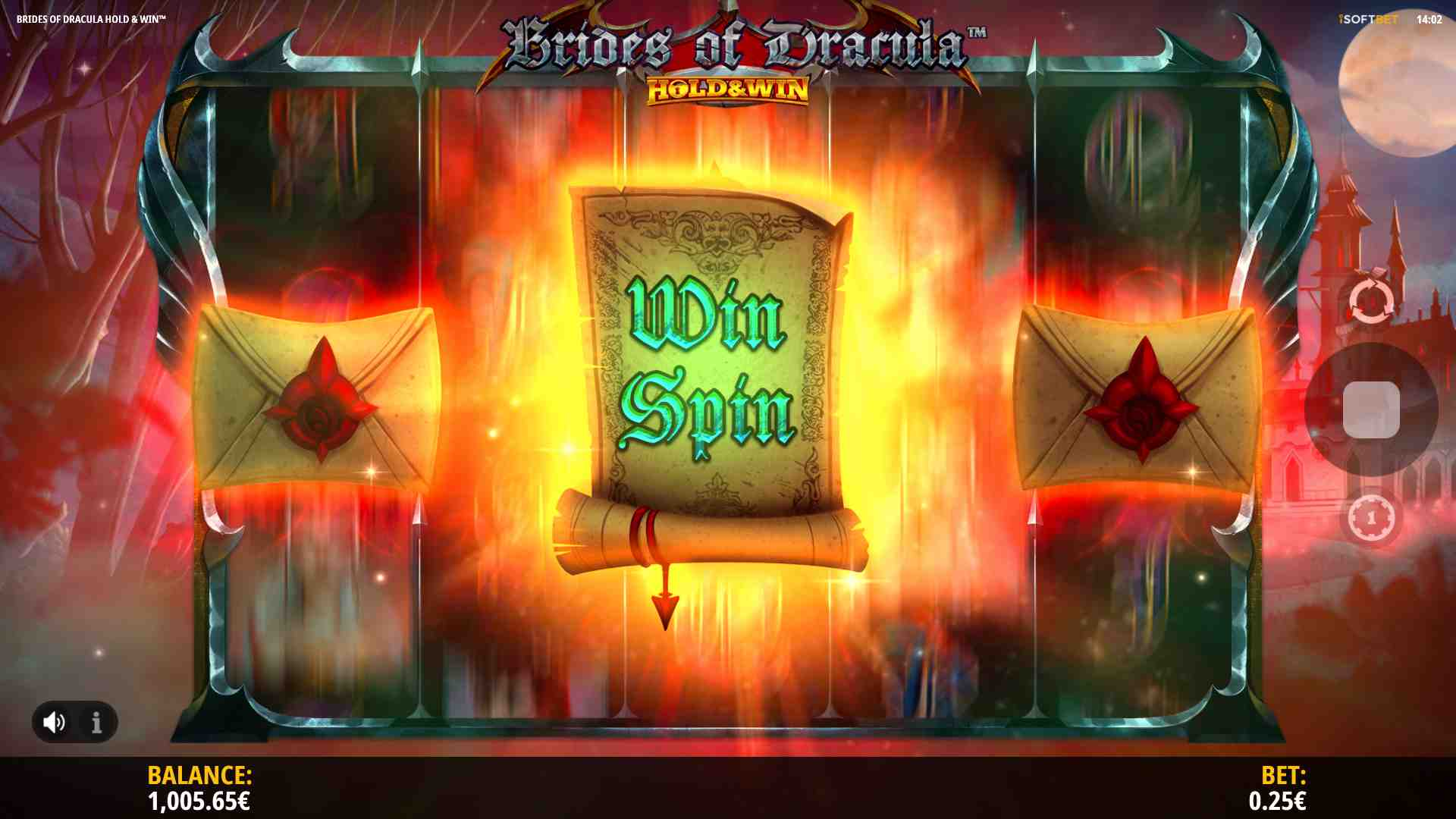 Brides of Dracula Hold & Win Pick a Letter Feature