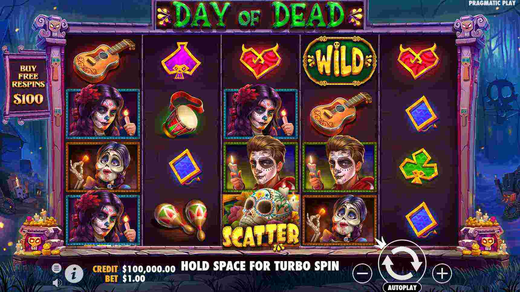 Day of Dead Slot Base Game