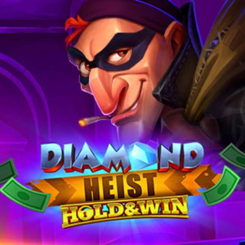 Diamond Heist Hold & WIn Slot Logo