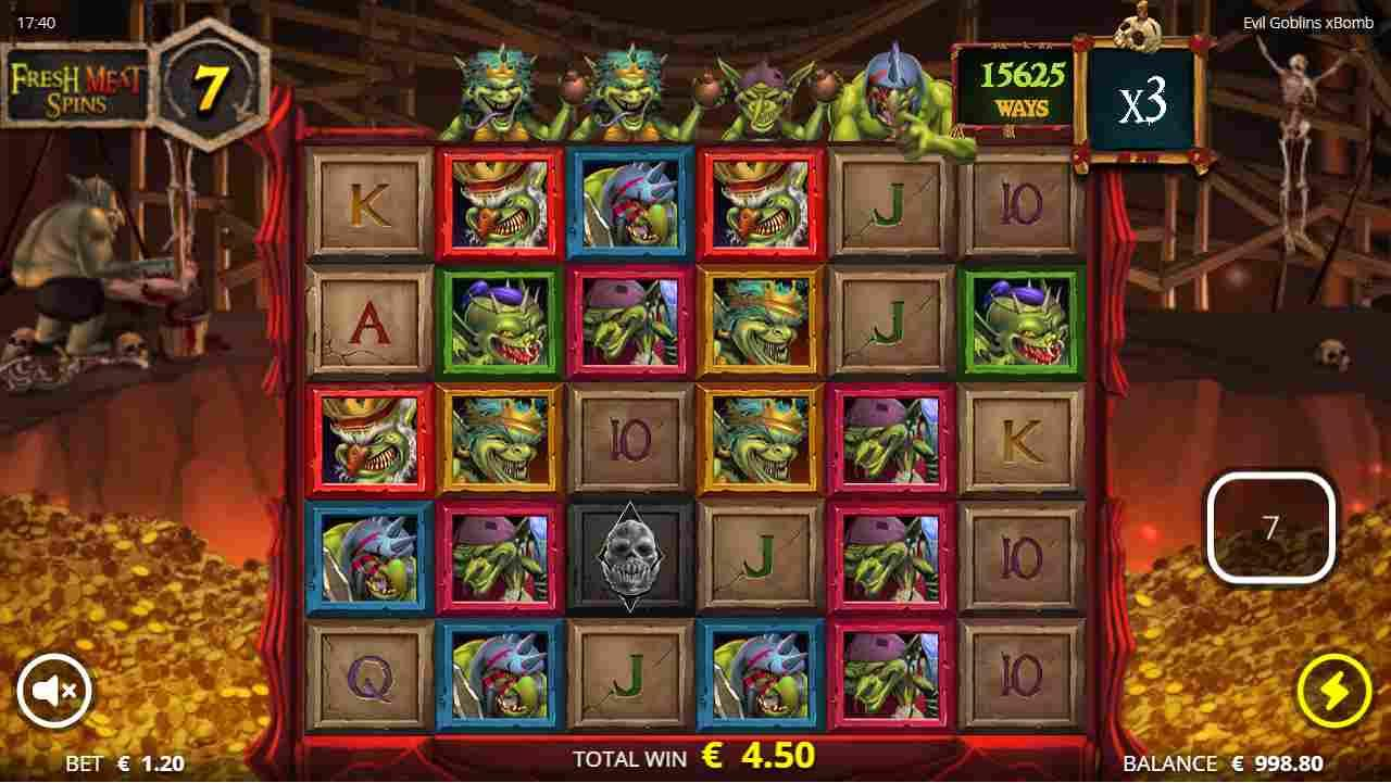 Evil Goblins xBomb Fresh Meat Free Spins