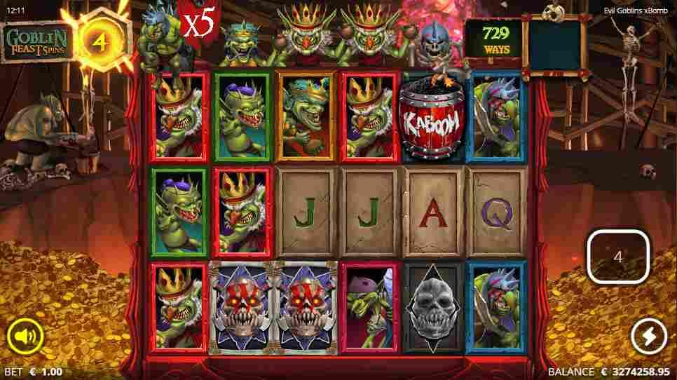 Evil Goblins xBomb Goblin Feast Free Spins