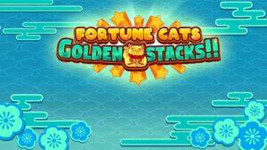 Fortune Cats Golden Stacks Slot Logo