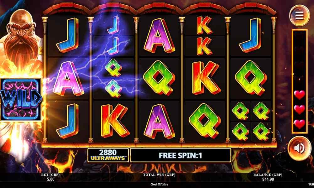 God of Fire Slot Free Spins