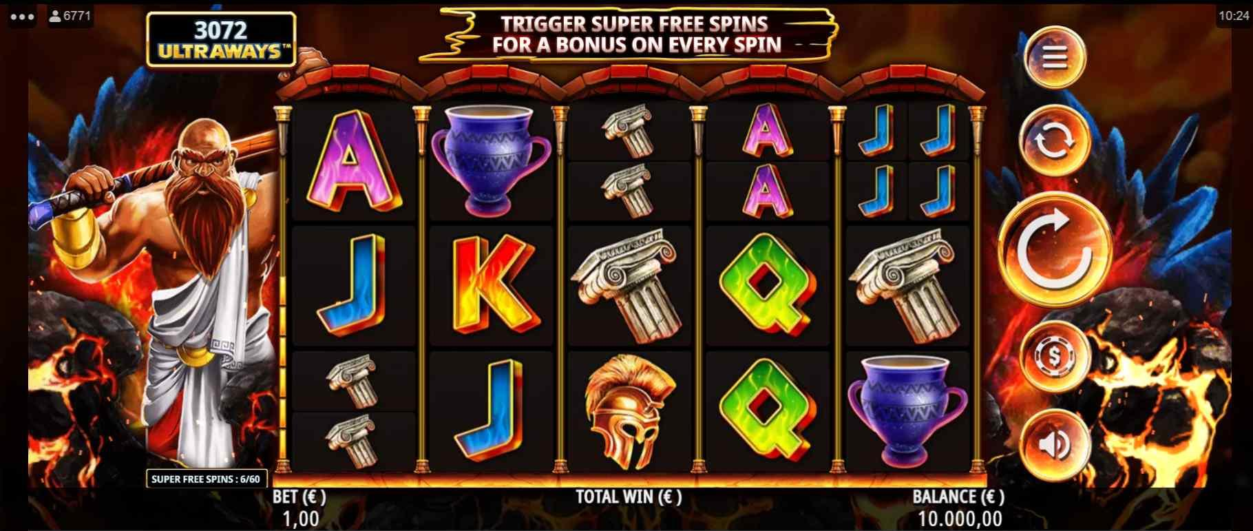 God of Fire Slot Gameplay