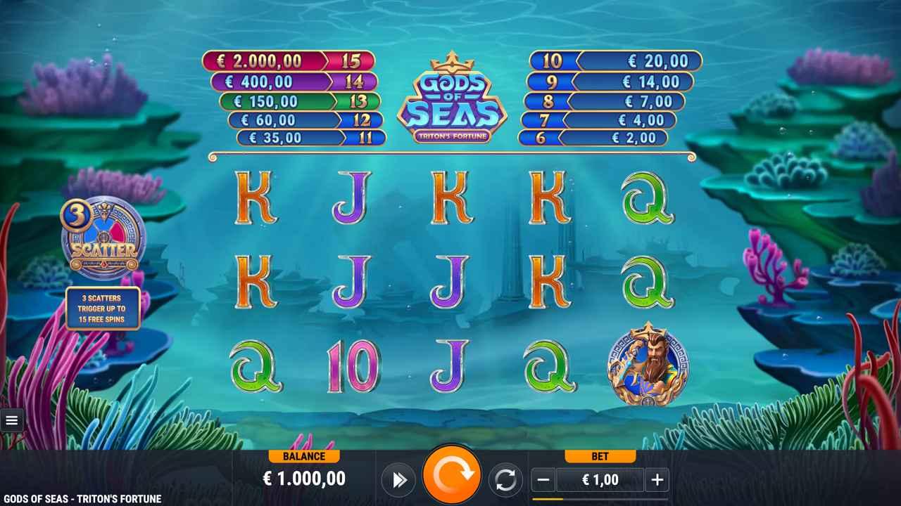 Gods of Seas Triton's Fortune Base Game
