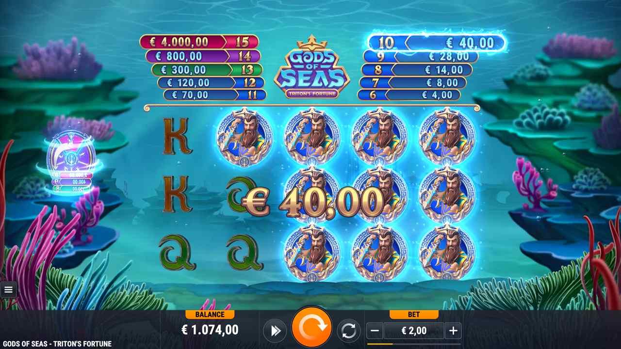 Gods of Seas Triton's Fortune Feature