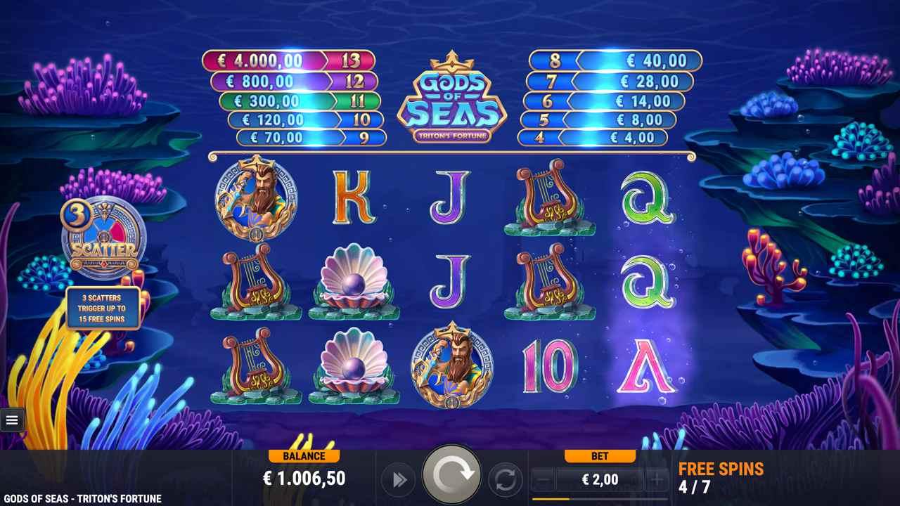 Gods of Seas Triton's Fortune Free Spins