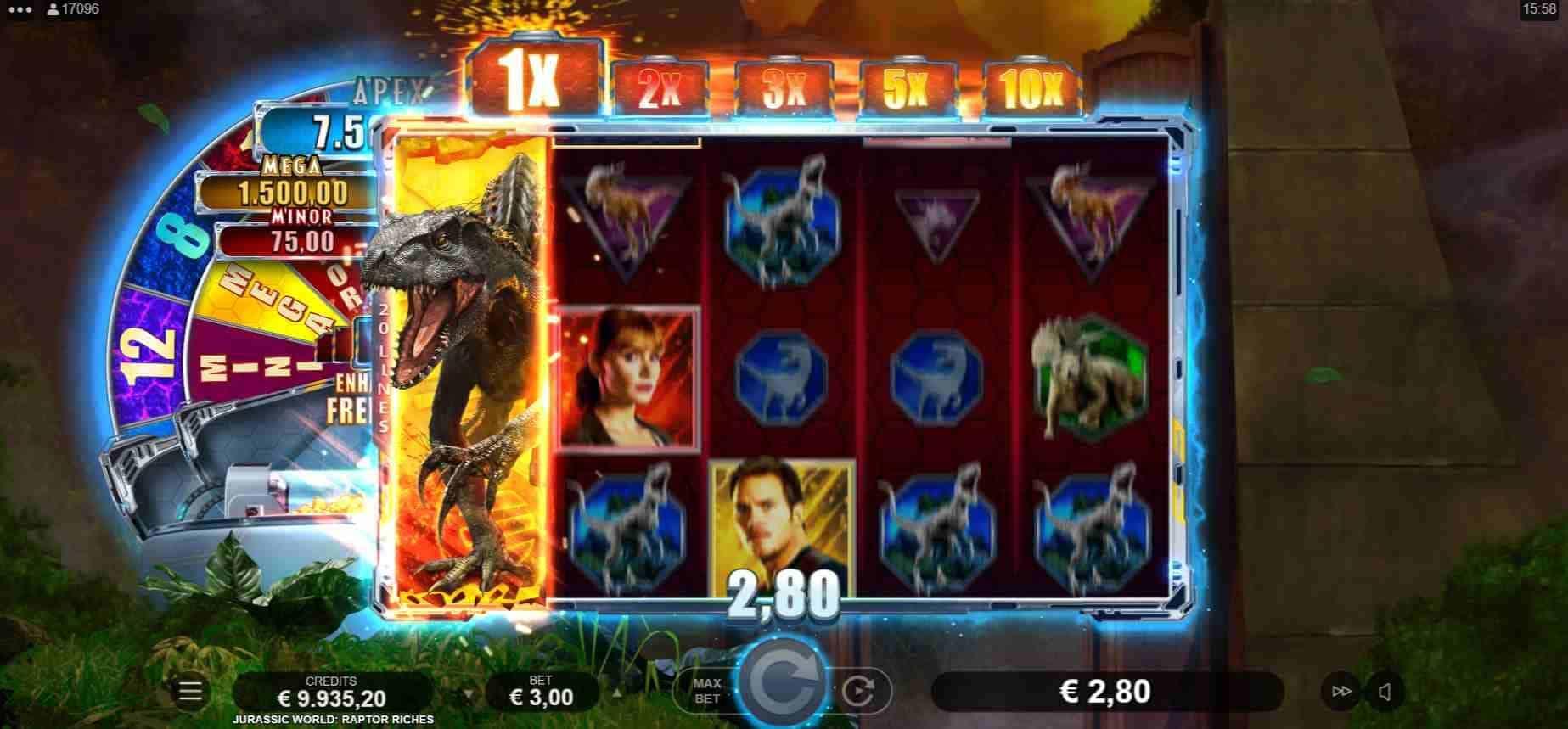Jurassic World Raptor Riches Gameplay Free Spins