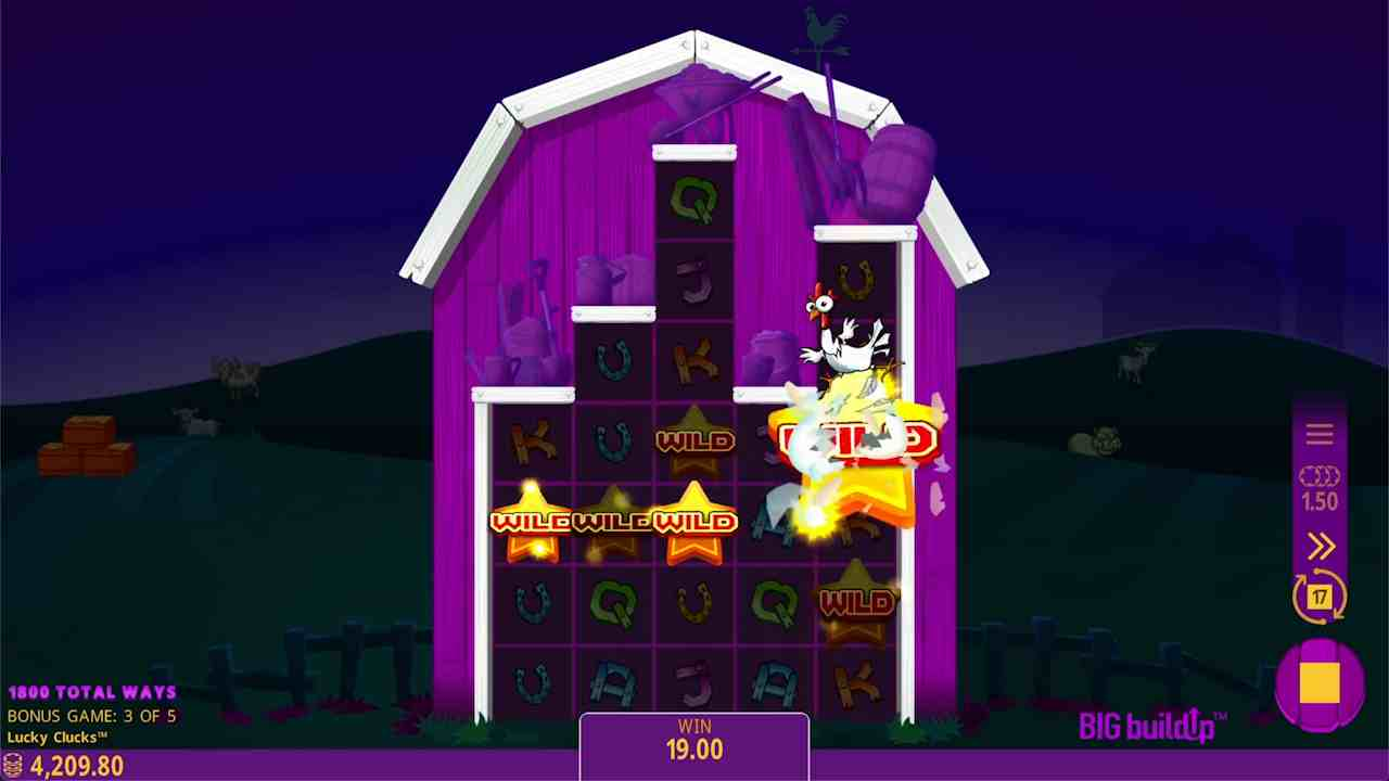Lucky Clucks Raise the Roof Free Spins