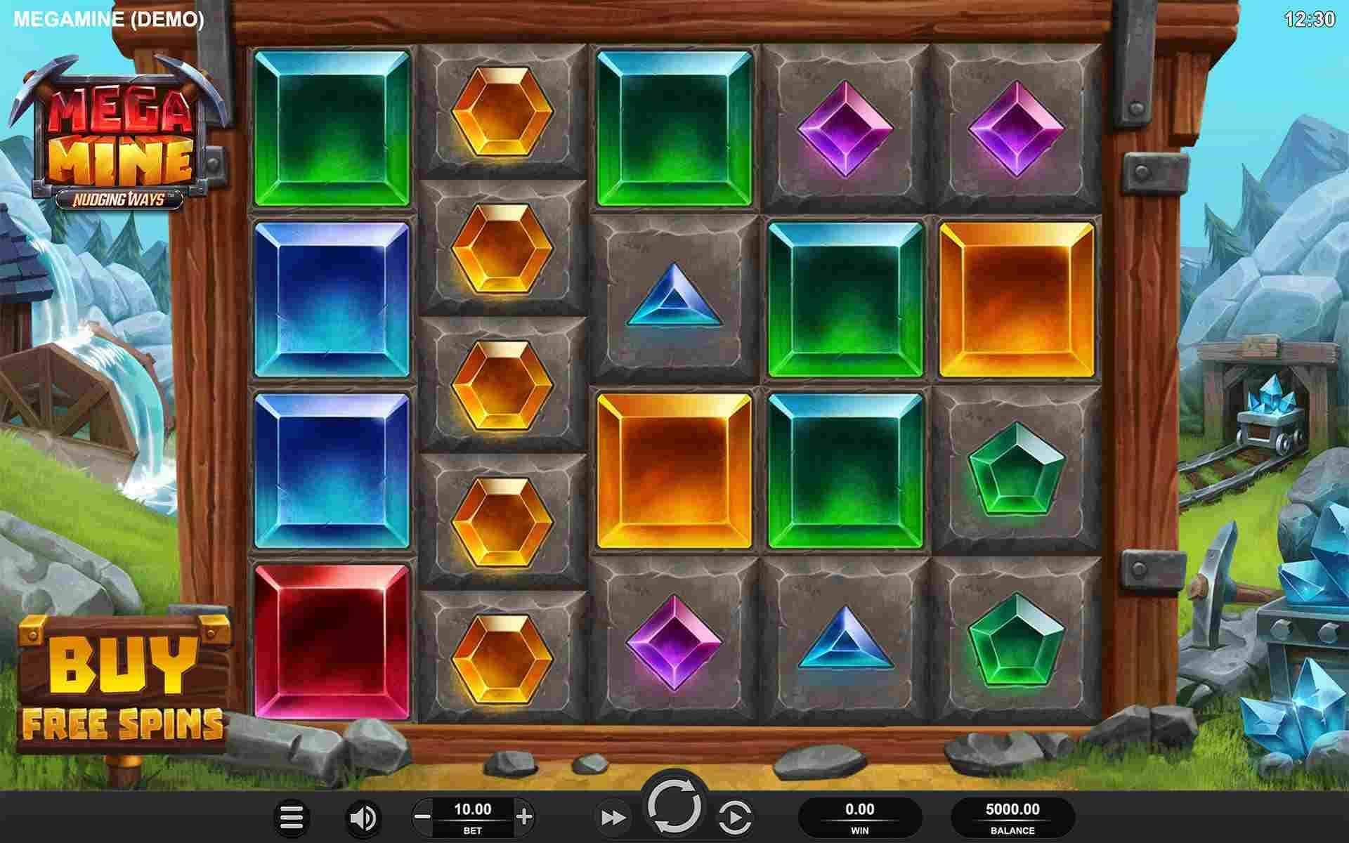 Mega Mine Nudging Ways Base Game