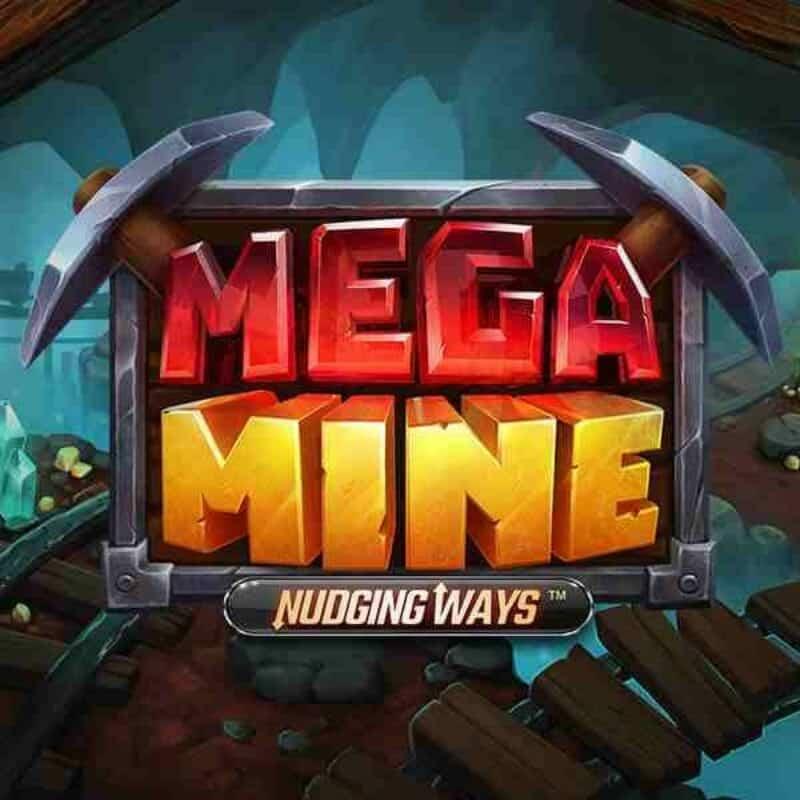 Mega Mine Nudging Ways Slot Logo