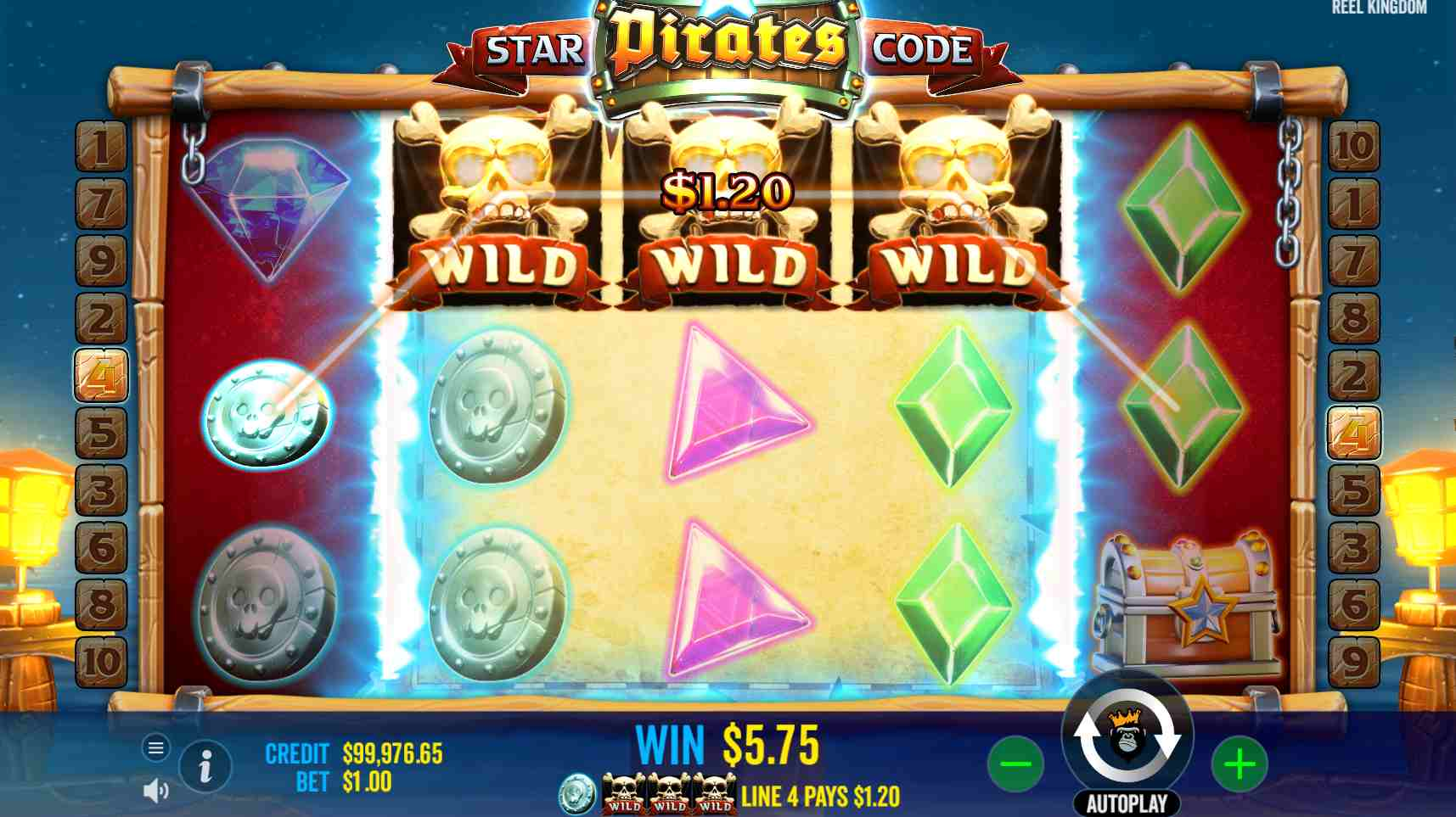 Star Pirates Code Respin Feature