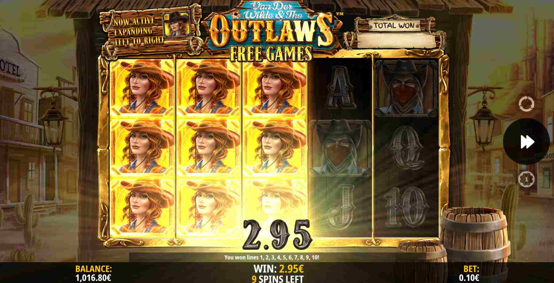Van der Wilde and The Outlaws Free Spins