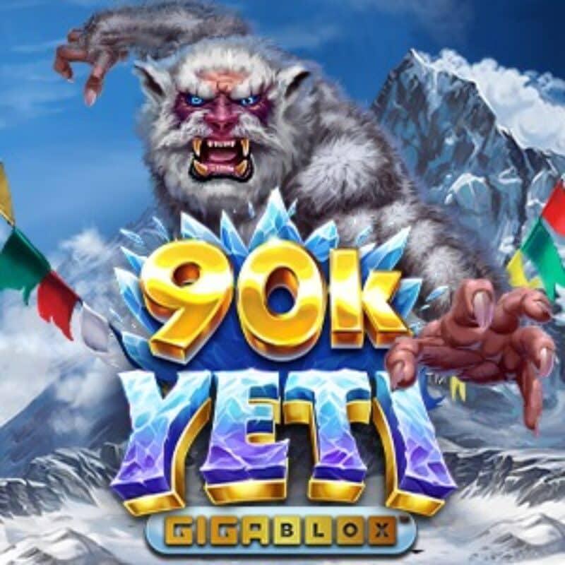 90k Yeti Gigablox Slot Logo